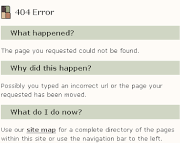 404 error page sample