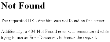 404 Not Found error sample